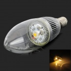 HLGXE14-3W E14 3W 180lm 3500K LED Warm White Light Bulb - Transparent + Silver (85~265V)