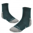 Naturehike SM01 Outdoor Sports Socks - Deep Green + Grey (39~43 / Pair)