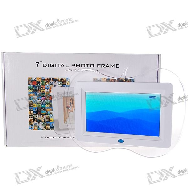 "7"" Wide Screen TFT LCD SD/MS/SM/CF/MMC/MD/USB Digital Photo Frame and Video Player with Remote"