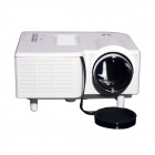 Geekwire LP-3 Portable FHD 1080P LED Projector w/ HDMI, VAG, USB 2.0, AV, SD, EU Plug - White