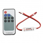 433.92MHz DC 5V~24V 12A RF Single Color Dimmer Controller - White + Red + Black (1 x CR2025)
