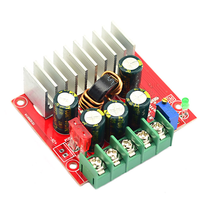 Jtron DC-DC 4~32V to 0.8~32V Automatic Buck-Boost Converter Module - Red jtron dc dc 4 32v to 0 8 32v automatic buck boost converter module red