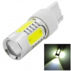 HJ YHJ16W-7440 7440 16W 900lm 6500K 2-Cree XP-E + 4-COB LED White Light Car Lamp - Silver (10~30V)