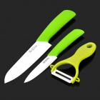 Bestlead Zirconia Ceramics Knife + Peeler Set - Green + White