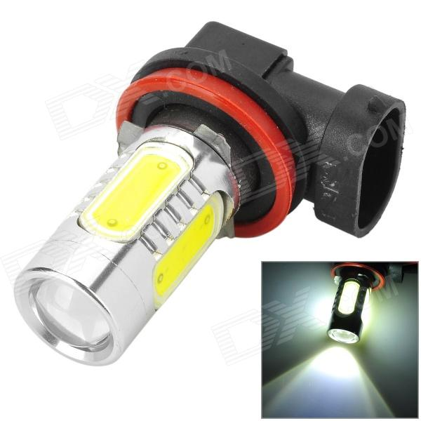 HJ YHJ16W-H8 H8 16W 900lm 6500K White Car LED Bulb w/ 2-CREE XP-E + 4-COB LED - Silver (10~30V)
