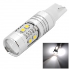 YLF-SMD-T10-10W T10 10W 300lm 6500K 10-SMD 2323 LED White Light Car Lamp - Silver + White (12~25V)