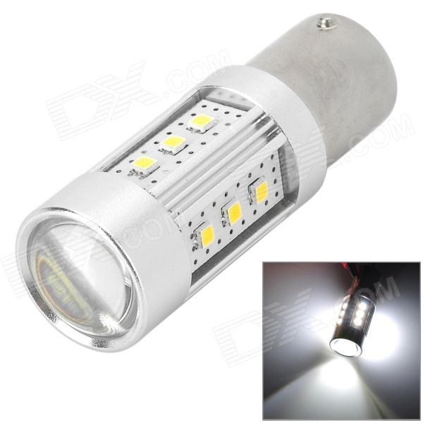 Y-1156-15W 1156 15W 700lm 6500K 15-SMD 2323 LED White Light Car Farol - Prata (10 ~ 30V)