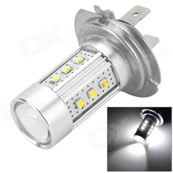 YLF-25W-15W 600lm 5LEDsH7 H7 6500K 15 SMD 2323 LED White Light Car Lamp - Prata (DC 12 ~ 24V)
