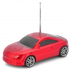 Liweek S5 Car Style Mini Portable 3W 2-CH Speaker w/ TF / FM Radio / USB - Red + Black