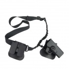 3-in-1 Pistol Holster + Magazine Clip + Gun Rope Strap Set for G17 - Black
