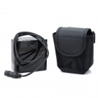 Rechargeable 7000mAh 8.4V 8 x 18650 4S2P Battery Pack for Bicycle Light - Black