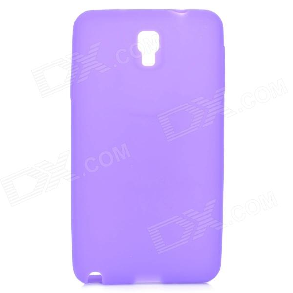 Stylish Plain Protective Silicone Back Case for Samsung Note 3 / N9000 - Purple
