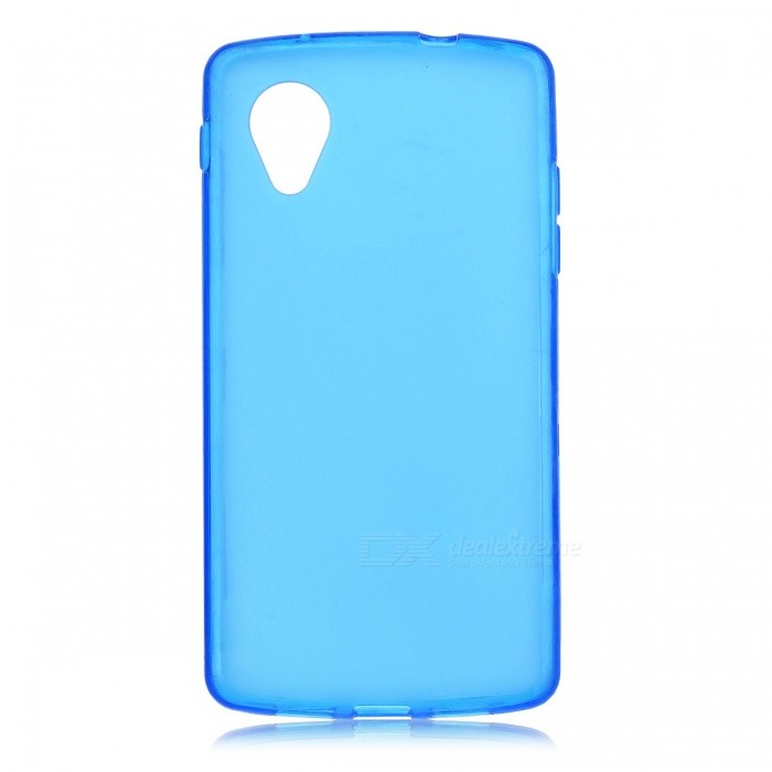 Protective Silicone Back Case for LG Nexus 5 - Translucent Blue