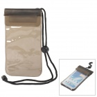 Universal PVC Waterproof Bag w/ Strap for Cellphones - Translucent Coffe