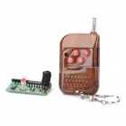 315MHz RF 4-CH Interlock Receiving Module + RC Wireless Control Set - Green + Black