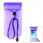 Waterproof Protective PVC Case w/ Strap for Samsung 7100 + More - Translucent Purple