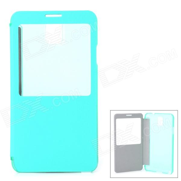 Stylish PU + PC Smart Case for Samsung Galaxy Note 3 / N9000 - Mint Green + Translucent 20m waterproof bag case for 5 7 cell phone samsung galaxy note 3 n9000 white