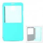 Stylish PU + PC Smart Case for Samsung Galaxy Note 3 / N9000 - Mint Green + Translucent
