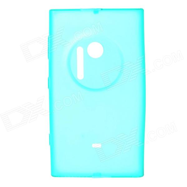 Matte TPU Plastic Back Case for Nokia Lumia 1020 - Translucent Cyan