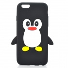 Penguin Style Protective Silicone Back Case for Samsung i9300 - Black + White + Red + Yellow