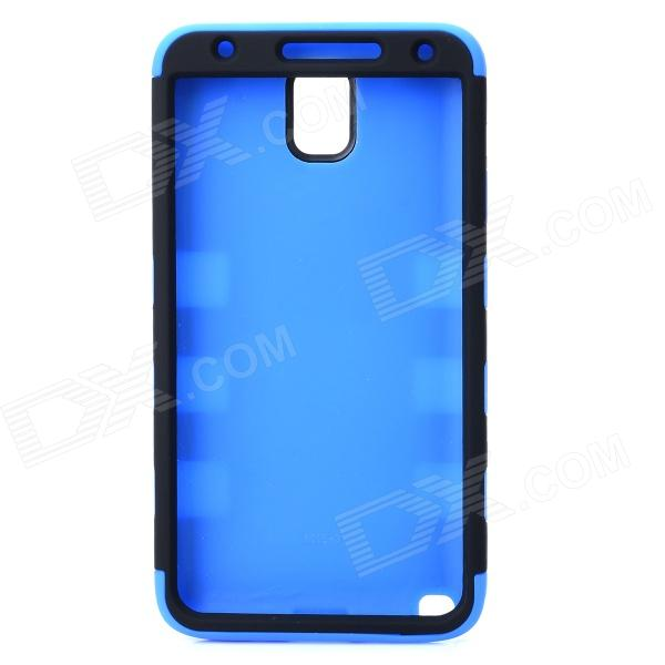 3-in-1 Detachable Protective Silicone + PC Back Case for Samsung Note 3 - Black + Blue 2 in 1 detachable protective tpu pc back case cover for samsung galaxy note 4 black