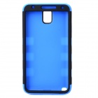3-in-1 Detachable Protective Silicone + PC Back Case for Samsung Note 3 - Black + Blue