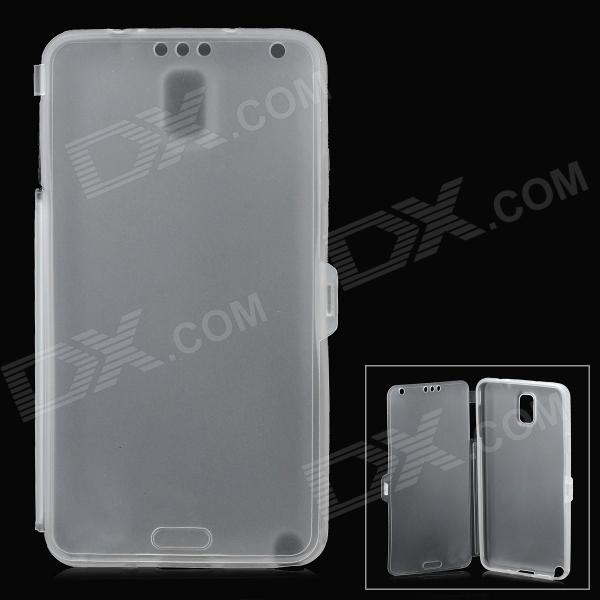 Matte Protective TPU Case for Samsung Note 3 - Translucent White protective silicone case for nds lite translucent white