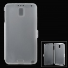 Matte Protective TPU Case for Samsung Note 3 - Translucent White