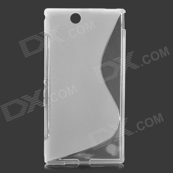 Fashionable S Pattern Silicone Back Case for Sony XL 39H - Transparent
