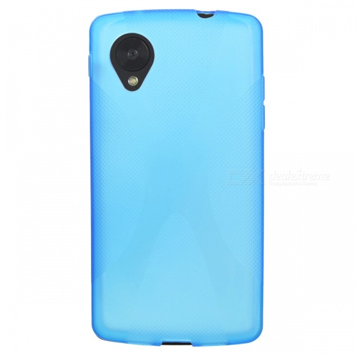 Fashionable Matte Silicone Back Case for LG Nexus 5 - Translucent Blue protective silicone back case for lg nexus 5 translucent white