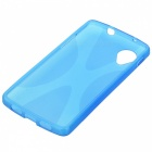 Fashionable Matte Silicone Back Case for LG Nexus 5 - Translucent Blue