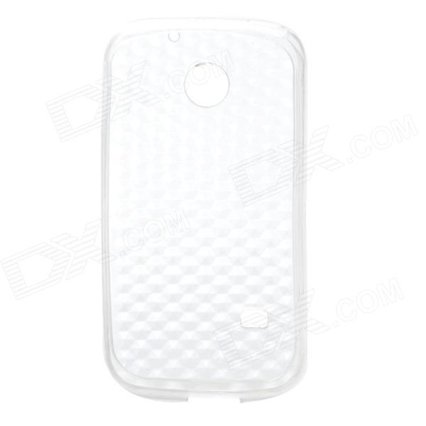 Crystal Cubes Pattern Protective TPU Back Case for Huawei C8650 - Translucent