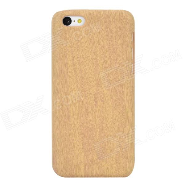 Wood Pattern Protective Plastic Back Case for Iphone 5C - Khaki for iphone 6 plus wood grain leather coated plastic case khaki