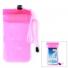 Waterproof Protective PVC Case w/ Strap for Samsung N7100 + More - Translucent Pink