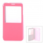 Protective Case w/ Sleep Function / Display Window for Samsung Galaxy Note 3 N9000 - Deep Pink