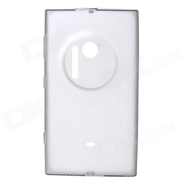 Matte Protective TPU Back Case for Nokia Lumia 1020 - Translucent Grey s style protective soft tpu back case for nokia lumia 928 translucent grey