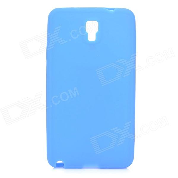 Stylish Plain Protective Silicone Back Case for Samsung Note 3 / N9000 - Blue
