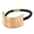 Zinc Alloy Semi-circle Elastic Band Hair Tie - Golden + Black
