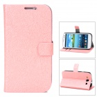 Protective PU Leather Case w/ Stand for Samsung Galaxy S3 / i9300 - Pink
