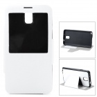 Stylish Flip-Open PU Leather Stand Case for Samsung Galaxy Note 3 - White + Black