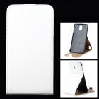 Stylish Up-Down Flip-Open PU Leather Case for Samsung Galaxy Note 3 / N9006 - White