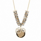 Mushaffer Stylish Zinc Alloy Women's Necklace - Brown + Golden