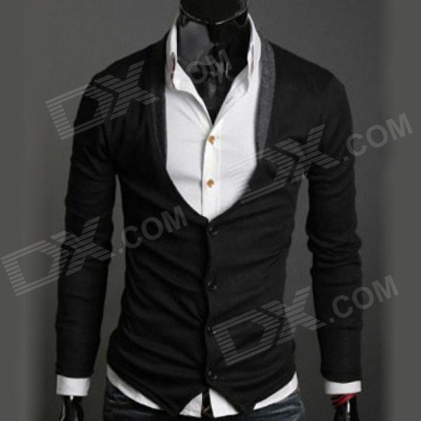 MONSEDEN 236 Fashionable Personality Cardigan for Men - Black (Size-L)