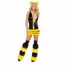 Dear Lover Sexy Bee Princess Costume - Yellow + Black (Free Size)