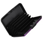 Aluminum Alloy Bankcard Wallet Holder Case - Purple