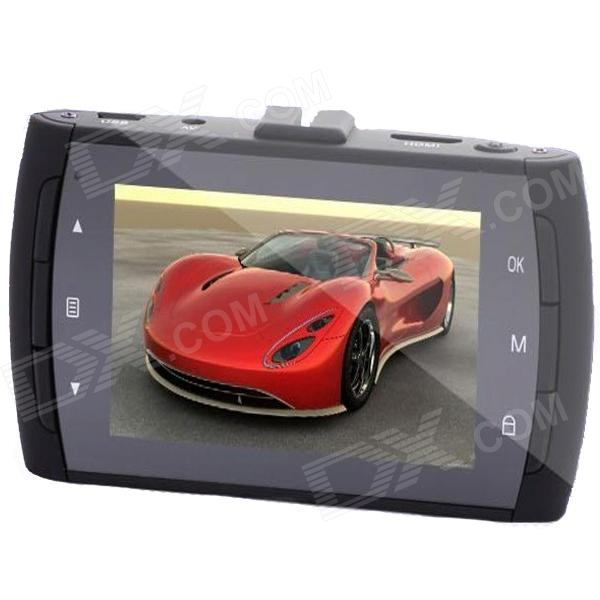AFANV A806 2.7 TFT LCD 3.0 MP CMOS HD 1080P Wide Angle Car DVR Camcorder w/ 2-IR LED - Black