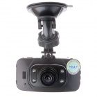 "HD720 Mini HD 2.4"" TFT 5.0 MP CMOS 4X 120 Degree 1080p Car DVR w/ AV-OUT - Black + Red + Grey"