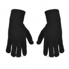 3-Finger Capacitive Screen Touching Hand Warmer Gloves for Iphone / Ipad - Black (Pair)