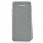 Protective PU Leather + Plastic Case Cover for Iphone 5C - Silver