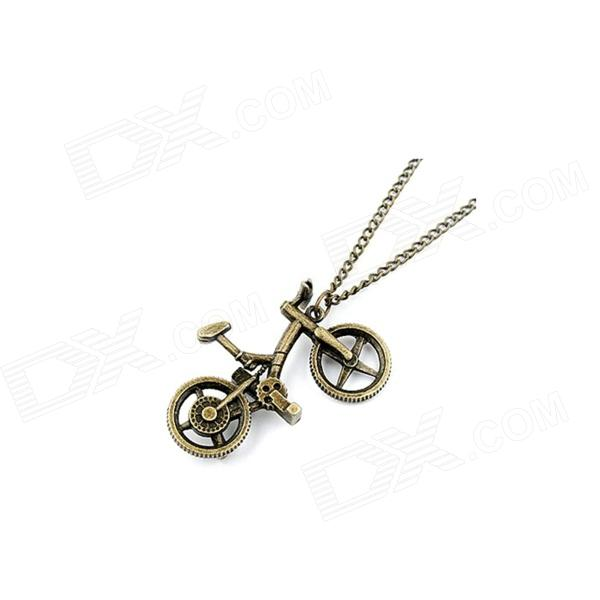 Vintage Bicycle Style Sweater Zinc Alloy Chain Women's Necklace - Bronze